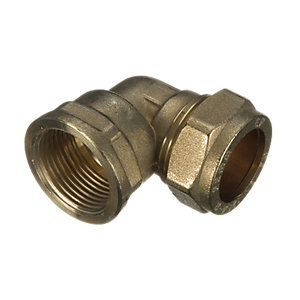 Wickes Brass Compression Elbow - 12 x 15mm
