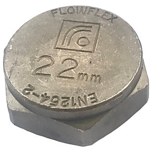 Wickes Compression Blanking Cap - 22mm