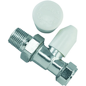 Wickes Straight Radiator Valve - 15mm
