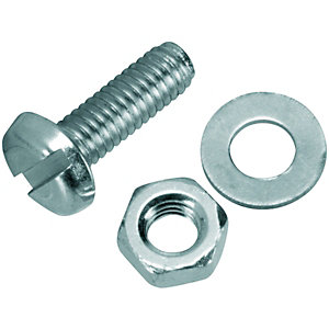 Wickes Machine Screws With Nut & Washer - M4 x 12mm Pack of 10