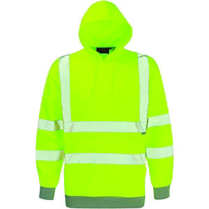 Image of Dickies High Visibility Hooded Sweatshirt Yellow Extra Large
