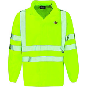 Image of Dickies High Visibility Lightweight Jacket Yellow Large