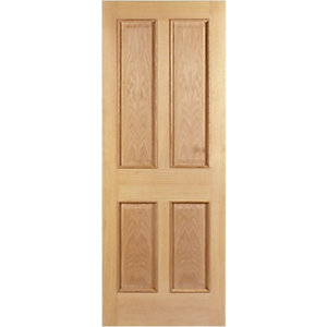 Wickes Denham Oak 4 Panel Internal Fire Door - 1981mm x 686mm