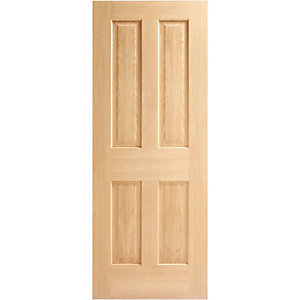 Wickes Cobham Internal 4 Panel Oak Veneer Door - 1981 x 686mm