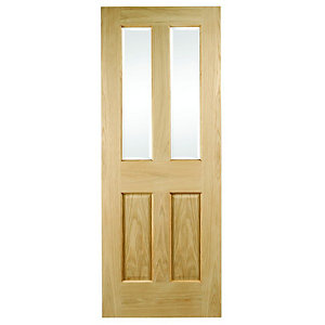 Wickes Cobham Internal Glazed 4 Panel Oak Door - 1981 x 686mm