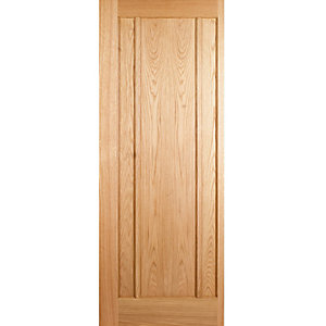 Wickes York Internal 3 Panel Oak Veneer Door - 1981 x 686mm