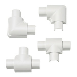 Image of D-Line Micro Equal Tee & Flat Bend Pack - White