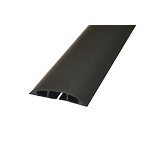 Image of D-Line Light Duty Floor Cable Cover - Black 60mm x 1.8m