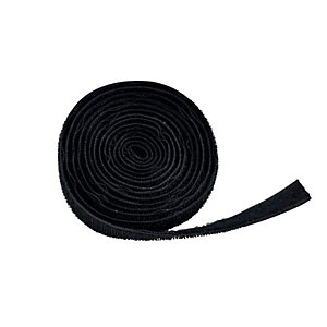 Image of D-Line Hook & Loop Band Cable Tidy - Black 1.2m