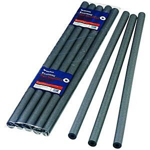 Wickes Economy Pipe Insulation 15 x 1000mm - Pack of 5