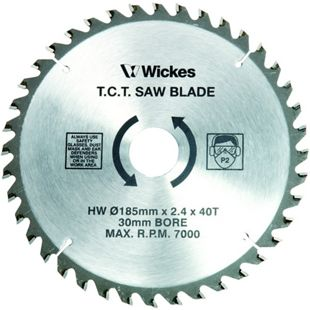 Wickes 40 teeth fine cut circular saw blade 185 x 30mm wickes greentooth Image collections