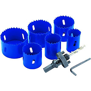 Wickes 6 Piece Multi-purpose Hole Saw Set