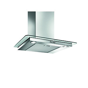 Image of Wickes Flat Glass Designer Cooker Hood