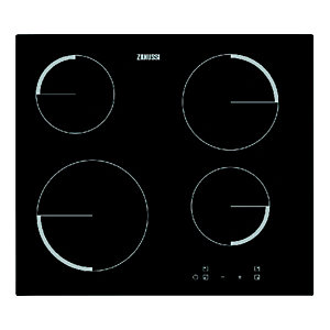 Image of Zanussi 60cm 4 Zone Ceramic Hob Black ZEV6240FBA