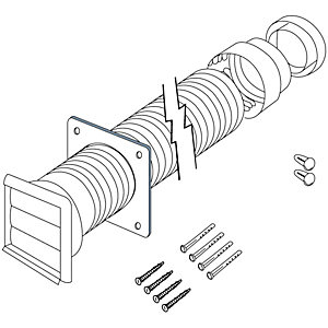 Image of Electrolux CDK5F Flexible Ducting Kit - 120mm