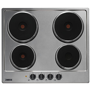 Image of Zanussi 58cm Electric Hob Stainless Steel ZEE6140FXK