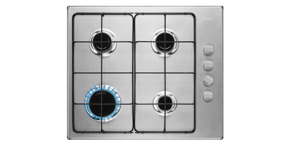 Zanussi 58cm Gas Hob Stainless Steel ZGH62414XS