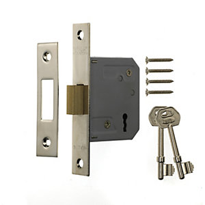 Image of ERA 3 Lever Door Deadlock - Chrome 64mm