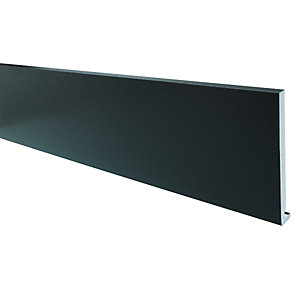 Wickes PVCu Black Fascia Board 18 x 225 x 2500mm