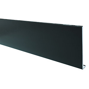 Wickes PVCu Black Fascia Board 9 x 225 x 2500mm