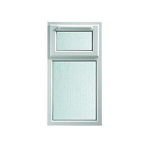 Wickes White uPVC Casement Window - Top Hung Obscure Glass 610 x 1010mm