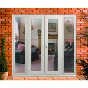 uPVC French Doors Outwards Opening with 2 Side Panels 600mm | Wickes ...