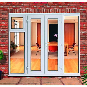 Wickes Upvc Double Glazed French Doors with 600mm Sash and Side Panels - 2390 x 2090 mm