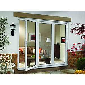 Wickes Millbrook Upvc External Bi-fold Door Set White 6ft Wide Right Opening