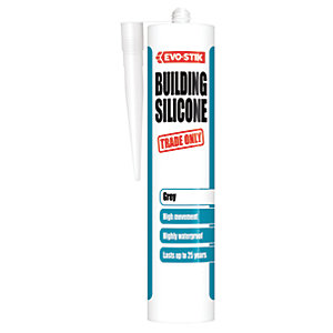 Evo-Stik Building Silicone Sealant - Grey 280ml