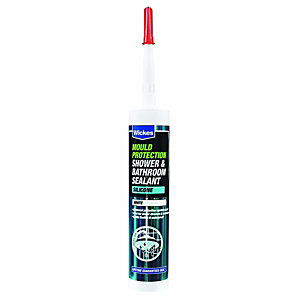 Wickes Mould Protect Shower and Bathroom Silicone Sealant - White 310ml