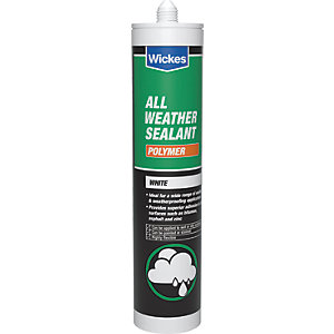 Image of Wickes All Weather Polymer Sealant - White 300ml