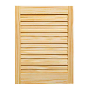 Wickes Pine Closed Internal Louvre Door - 610mm x 457mm