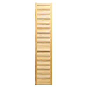 Wickes Pine Closed Internal Louvre Door - 1829mm x 381mm