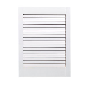 Wickes White Closed Internal Louvre Door - 610mm x 457mm