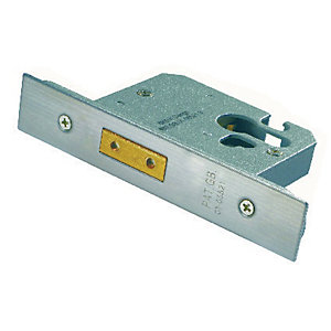 Image of 4FireDoors Door Deadlock - Stainless Steel 76mm