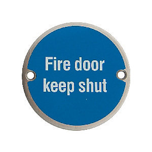 Compare prices for 4FireDoors Fire Door Keep Shut Safety Sign - 75mm Pack of 2