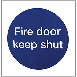 Image of 4FireDoors Fire Door Keep Shut Safety Sign - 70 x 70mm Pack of 2