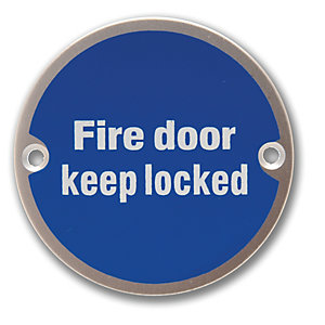 4FireDoors Fire Door Keep Locked Safety Sign - 75mm Pack of 2