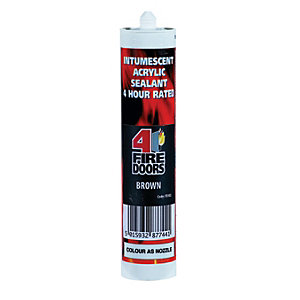 Image of 4FireDoors Intumescent & Acoustic Acrylic Sealant - Brown 310ml