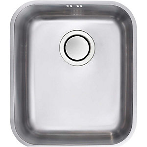 Bordo Medium 1 Bowl Undermount Kitchen Sink - Stainless Steel