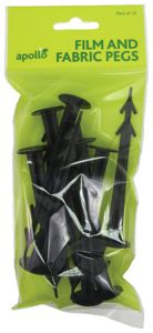Wickes Fleece & Fabric Pegs - Black Pack of 10