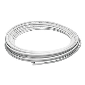 John Guest Speedfit Polybutylene Layflat Barrier Pipe - White 15mm x 25m