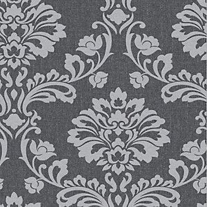 Superfresco Colour Aurora Decorative Wallpaper Grey - 10m