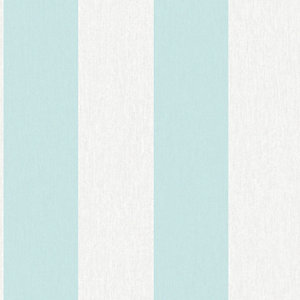 Striped Superfresco Easy Calico Decorative Wallpaper Blue - 10m