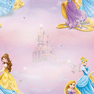 Disney Pretty As A Princess Decorative Wallpaper Multi - 10m