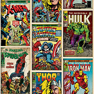 Image of Marvel Action Heroes Decorative Wallpaper Multi - 10m