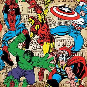Image of Graham & Brown Marvel Superheroes Decorative Wallpaper Multi - 10m
