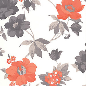 Superfresco Easy Eden Decorative Wallpaper Orange - 10m