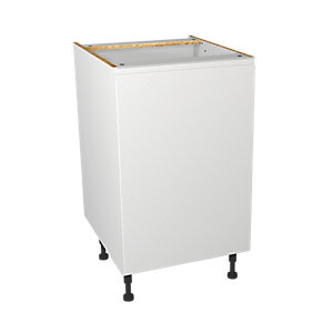 Wickes Madison White Gloss Handleless Base Unit - 500mm