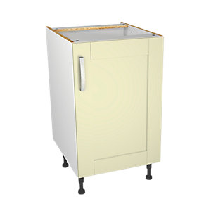 Wickes Ohio Cream Shaker Base Unit - 500mm
